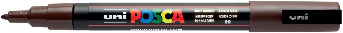 POSCA POINTE FINE 0.9-1.3MM MARRON FONCE