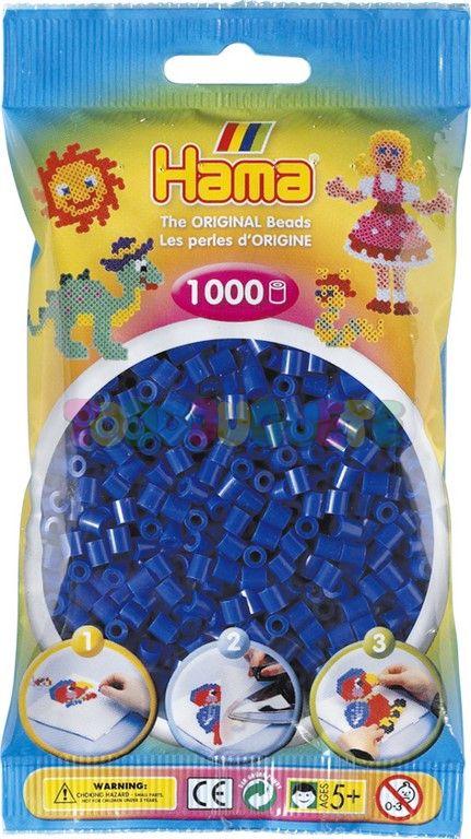 SACHET 1000 PERLES BLEU FONCE