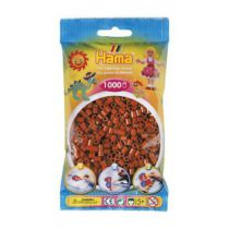 SACHET 1000 PERLES MARRON ROUGE