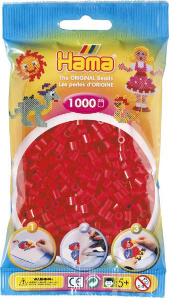 SACHET1000 PERLES ROUGE