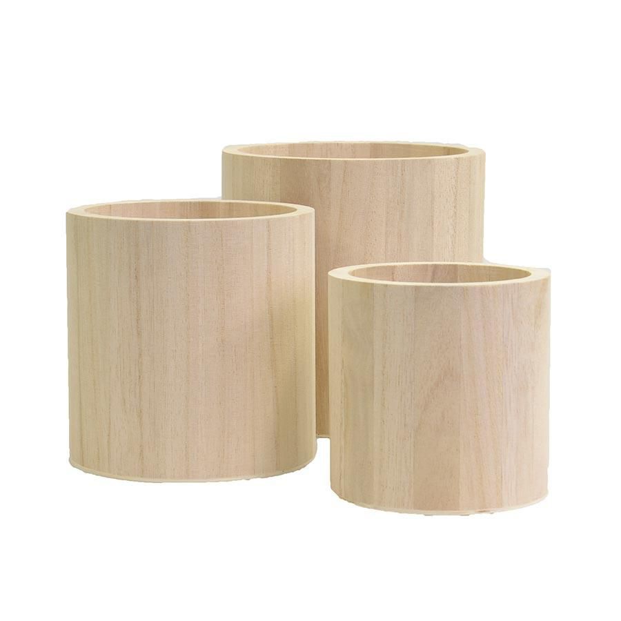 SET 3 VASES RONDS
