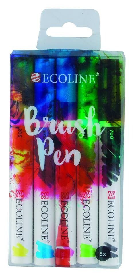 SET 5 BRUSH PEN ECOLINE
