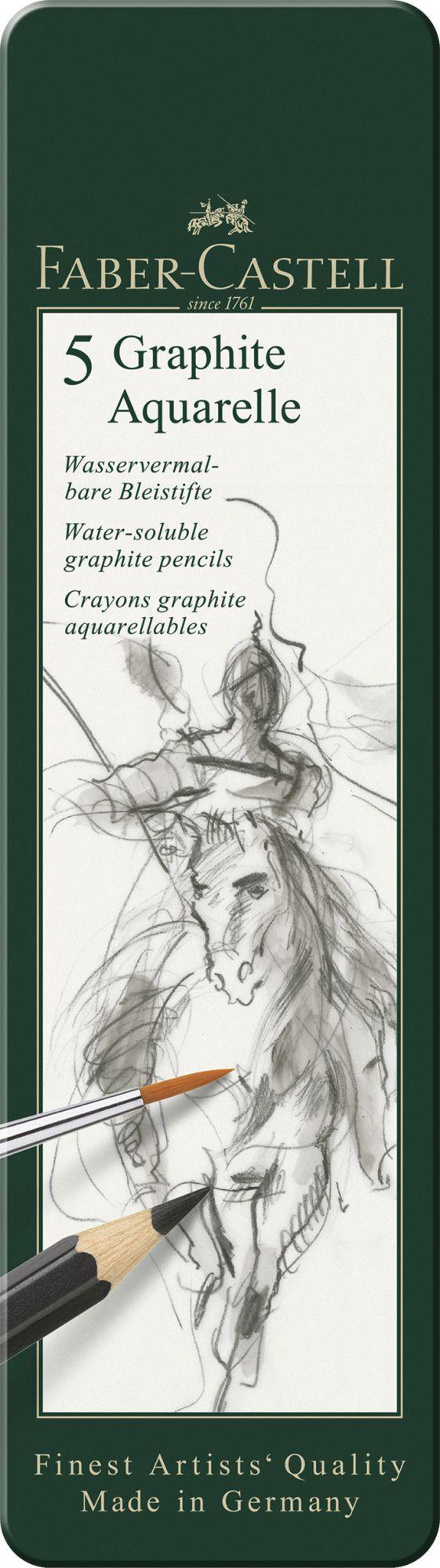 SET 5 CRAYONS GRAPHITE AQUARELLE FABER CASTELL