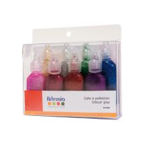 SET 8X25ML COLLE A PAILLETTES