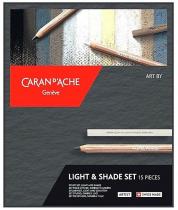 SET ARTIST PASTELS CARAN D\'ACHE OMBRE & LUMIERE X 15 pièces