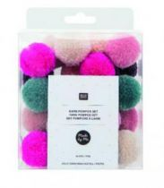 SET POMPONS JOLLY XMAS PASTEL