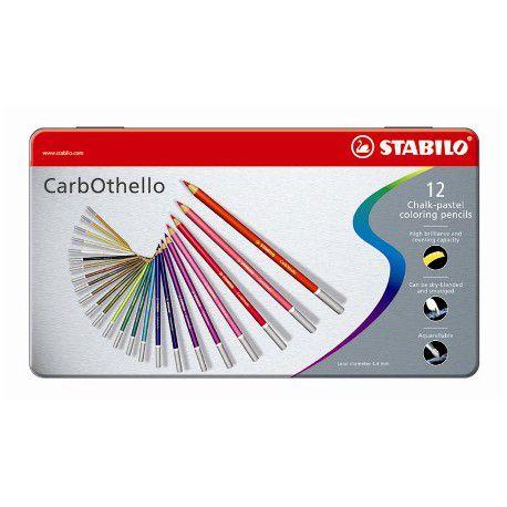STABILO CARBOTHELLO  BOITE METAL DE 12