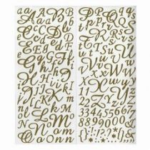 STICKER ALPHABET GLITTER OR