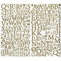 STICKERS ALPHABET PAILLETTE-OR
