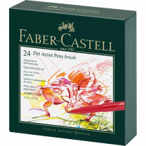 STUDIO BOX ARTIST PEN DE 24 FEUTRES PITT - FABER CASTELL