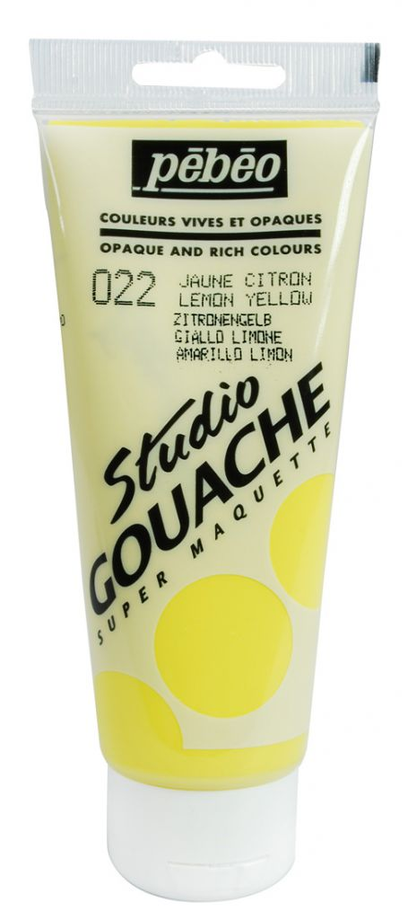STUDIO GOUACHE 100ML JAUNE CITRON