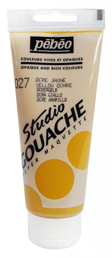 STUDIO GOUACHE 100ML OCRE JAUNE