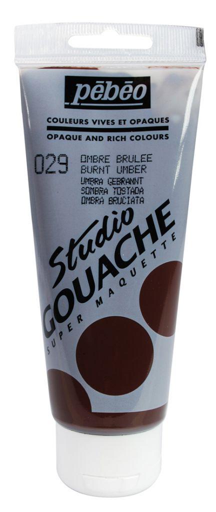 STUDIO GOUACHE 100ML OMBRE BRULEE
