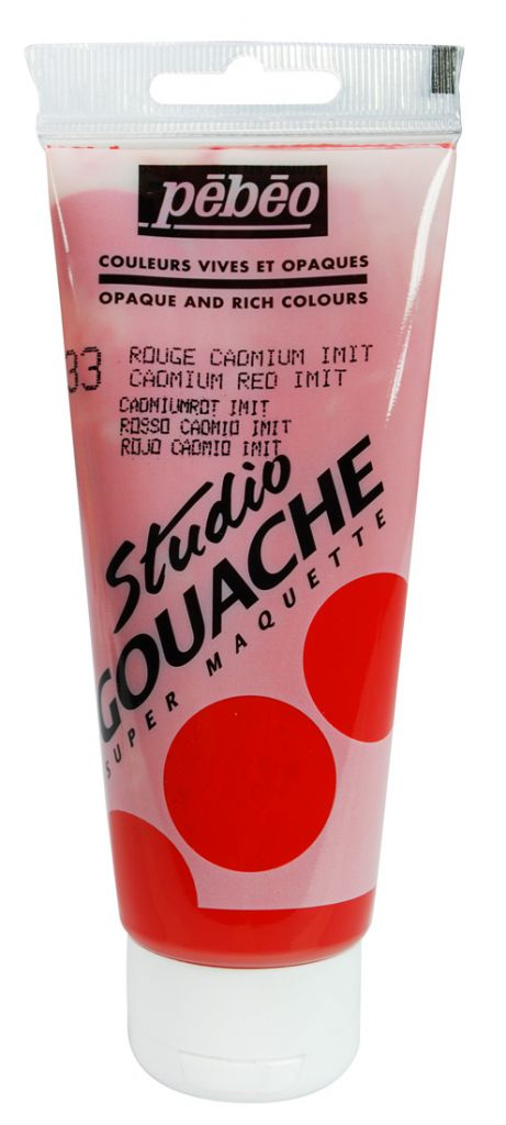 STUDIO GOUACHE 100ML ROUGE CADMIUM
