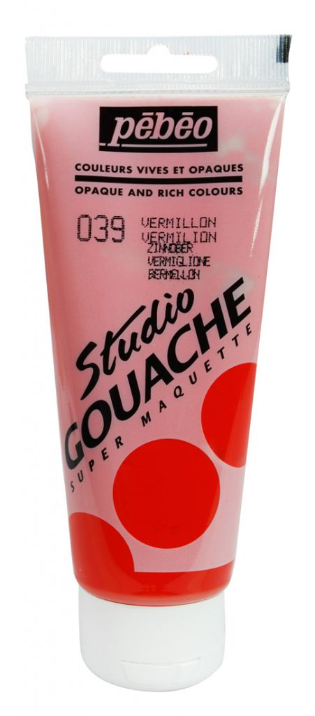 STUDIO GOUACHE 100ML VERMILLON