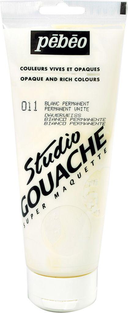 STUDIO GOUACHE 220ML BLANC PERMANENT