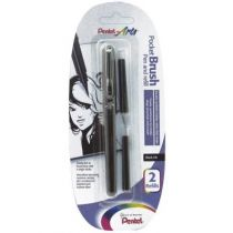 STYLO PINCEAU PENTEL POCKET BRUSH + 2 RECHARGES