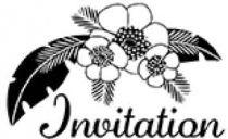 TAMPON BOIS INVITATION FLEURIE