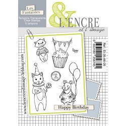 TAMPONS CLEAR L\'ENCRE ET L\'IMAGE HAPPY BIRTHDAY jan20