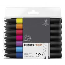 W&N BRUSHMARKER SET 12+1PC TONS VIFS