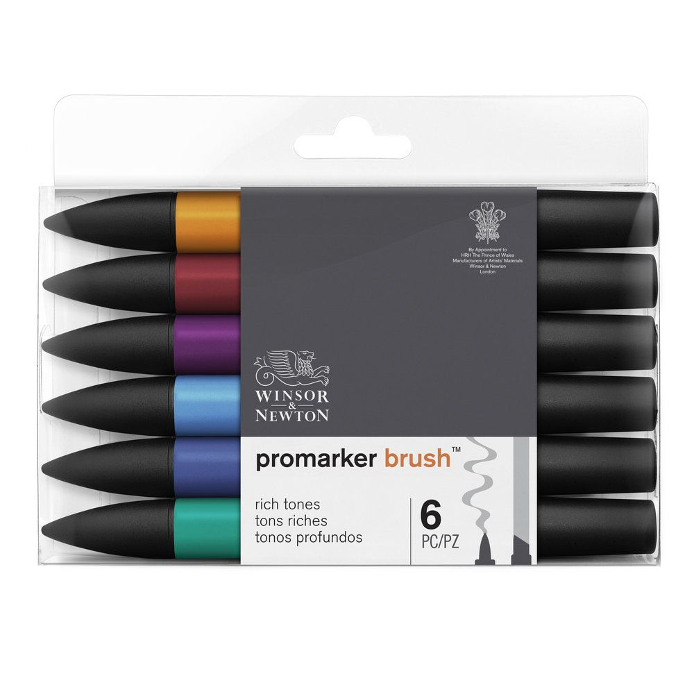 W&N BRUSHMARKER SET 6PC TONS RICHES