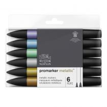 W&N PROMARKER METALLIC SET 6PC