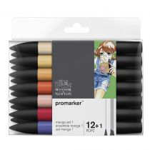 W&N PROMARKER SET 12+1PC MANGA SET 1
