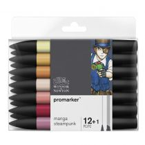 W&N PROMARKER SET 12+1PC MANGA STEAMPUNK