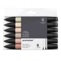 W&N PROMARKER SET 6PC TONS DE CHAIR SET 1
