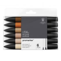 W&N PROMARKER SET 6PC TONS DE CHAIR SET 2